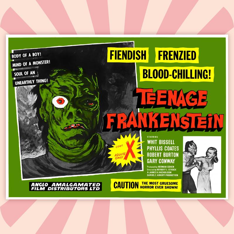 YO FUI UN FRANKENSTEIN ADOLESCENTE / Herbert L. Strock 1957
